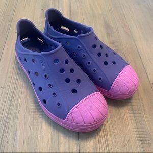 Crocs | Purple & Pink Slip On Shoes